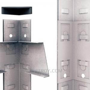 Полочный стеллаж 2400х1200х400, 5 полок ДСП до 200 кг
