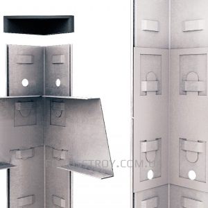 Полочный стеллаж 2800х900х600, 6 полок ДСП до 200 кг