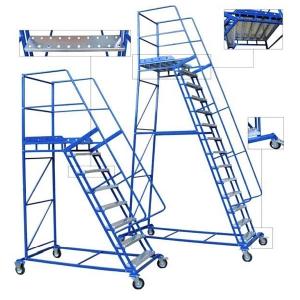 Лестница SHML передвижная 4500 мм с полкой