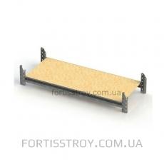 Полочный стеллаж 2000х1840х800 мм на 3 полки (цинк)