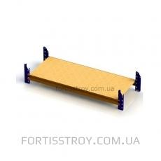 Полочный стеллаж 2500х1230х600 мм на 3 полки (покрытие эмаль)