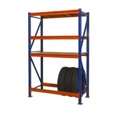 Полочный стеллаж 2000х1230х500 мм с ярусом для хранения шин